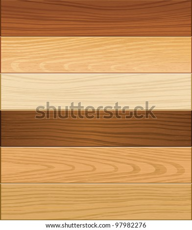 Wooden texture seamless background. vector illustration. - stock vector