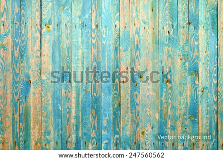 wooden texture, vector grunge retro vintage background - stock vector