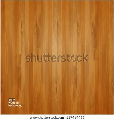 Wooden texture. Vector illustration - stock vector