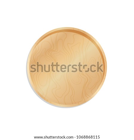 Wooden Trencher Tray Salver Isolated On Stock Vector 1068868115 ...