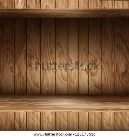 wooden vector background - stock vector