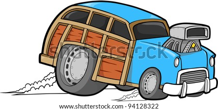 Woody Car Vector