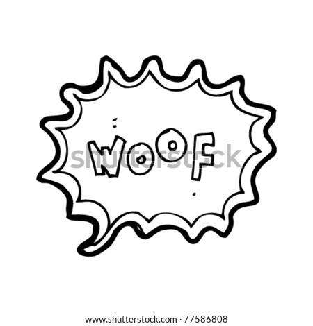 woof cartoon - stock vector