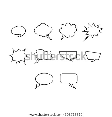 Word bubble icon collection