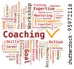 Word Cloud - Coaching - stock vector