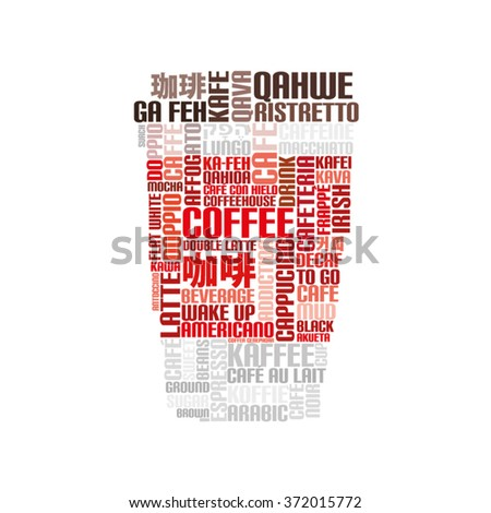 """Word Cloud """"Coffee to go"""" - stock vector"""