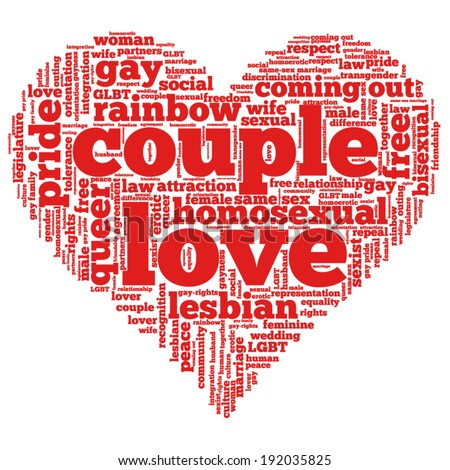 Word Cloud Containing Words Related To Rights Uality Love And Relationship In