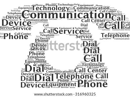 word cloud form old telephone stock vector 316960325 shutterstock. Black Bedroom Furniture Sets. Home Design Ideas