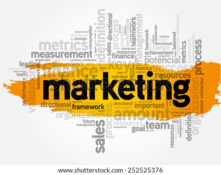 Word cloud of Marketing related items, business concept - stock vector
