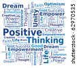 Word Cloud - Positive Thinking - stock photo