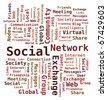 Word Cloud Social Network / Internet / Community - stock photo