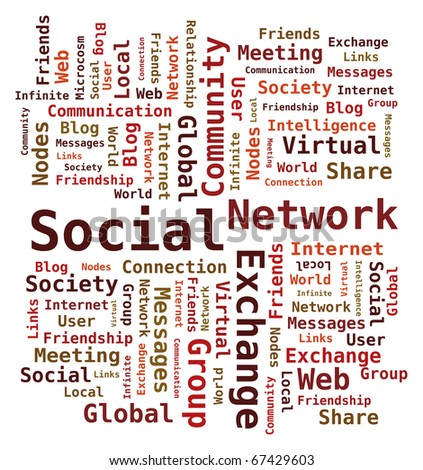 Word Cloud Social Network / Internet / Community - stock vector