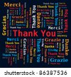 Word Cloud - Thank You in 5 Languages - stock photo