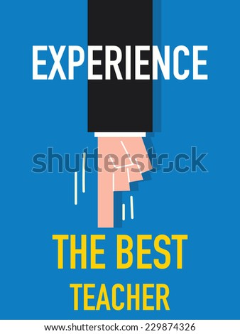 Word EXPERIENCE vector illustration