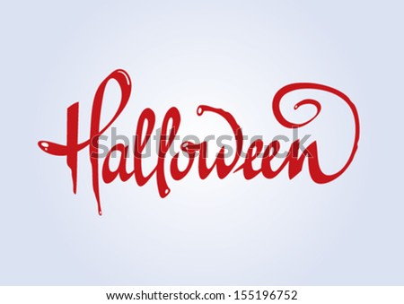 word halloween on a grey background