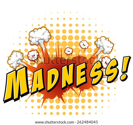 word madness explosion background stock vector 262484045