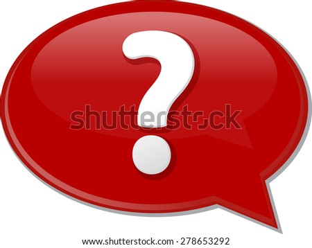 Word speech bubble illustration of discussion forum blog question vector - stock vector
