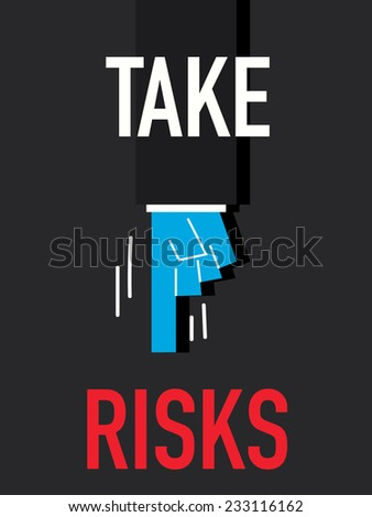 Word TAKE RISKS - stock vector