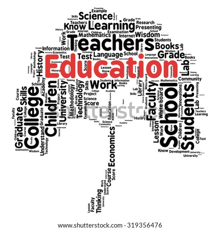 words cloud related to Education and relevant - stock vector