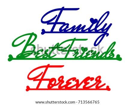 Words family best friends forever die stock vector royalty free words family best friends and forever in die cut pattern vector cut publicscrutiny Choice Image