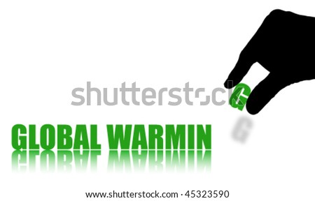 Words GLOBAL WARMING Isolated on White Background - stock vector