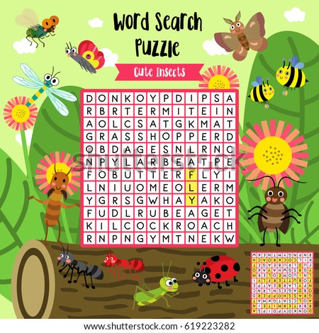 Maths Worksheet Excel Words Search Puzzle Game Shapes Preschool Stock Vector   Identify The Parts Of Speech Worksheet with Fun French Worksheets Words Search Puzzle Game Of Insect Bug Animals For Preschool Kids Activity  Worksheet Colorful Printable Version Dangling Participle Worksheet Pdf
