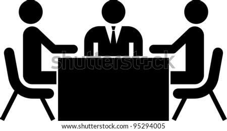 work/business meeting - stock vector