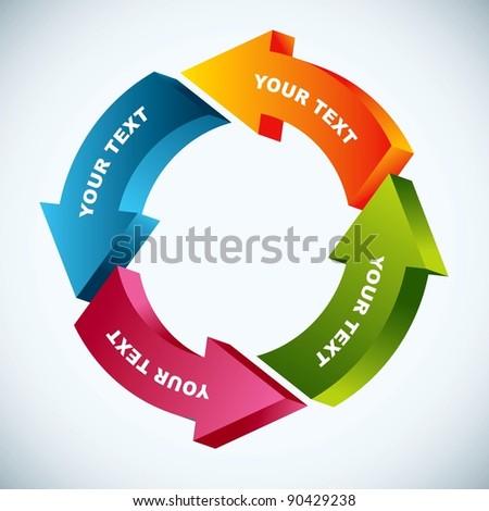 work flow chart - stock vector