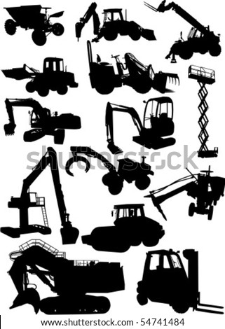 Work Machine - stock vector