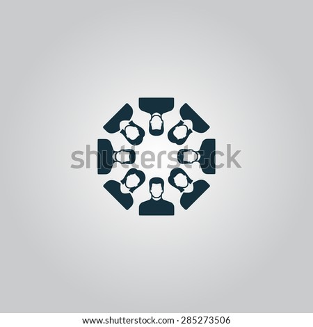 Work team concept. Flat web icon or sign isolated on grey background. Collection modern trend concept design style vector illustration symbol - stock vector