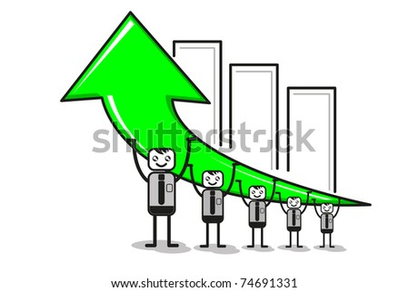 work together - stock vector