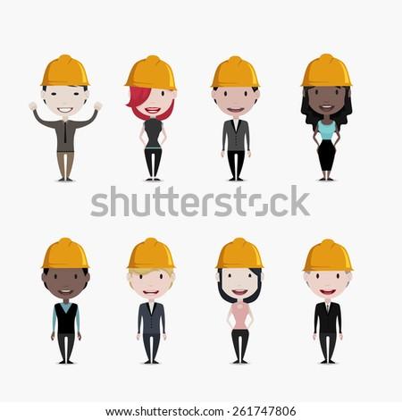 Worker concept illustration - stock vector