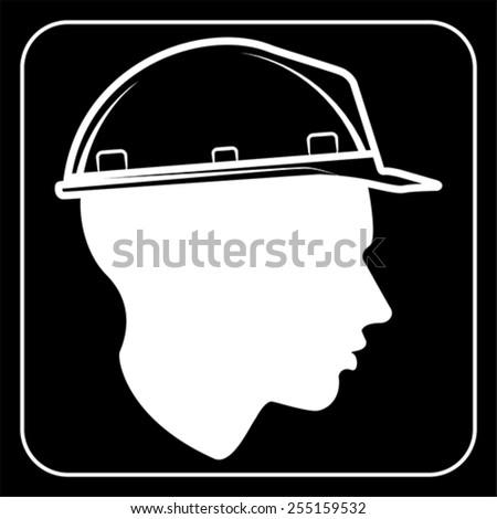 worker sign - Construction Site, vector - stock vector