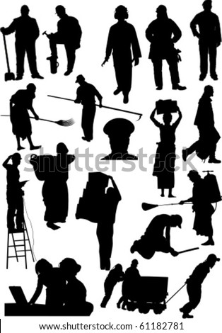 Workers - stock vector