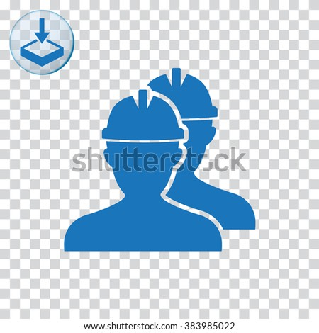 Workers icon for web and mobile. - stock vector