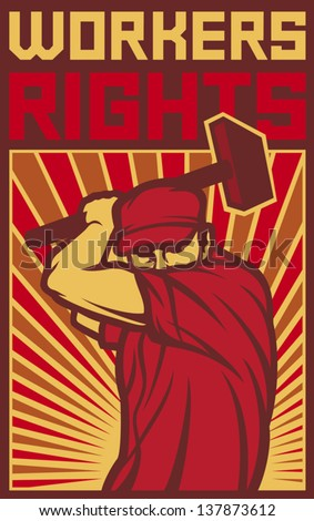 Are workers unite fist