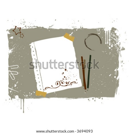 Working desktop - stock vector