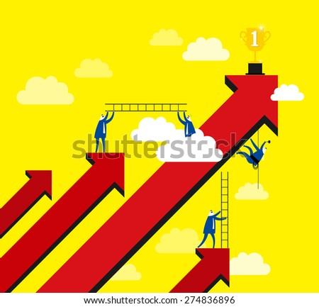 Working for glory - stock vector