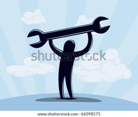 working man. - stock vector