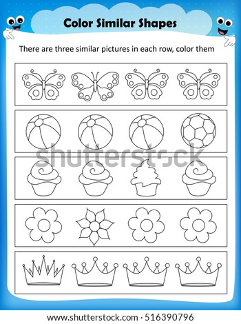 Weirdmailus  Gorgeous Worksheet Stock Photos Royaltyfree Images Amp Vectors  Shutterstock With Luxury Worksheet  Color Similar Shapes Kids Worksheet For Preschool Kids With Alluring Free Printable Multiplication Worksheets For Rd Grade Also Name Trace Worksheets In Addition Nd Grade Math Worksheets Word Problems And Planet Worksheet As Well As Volleyball Worksheets Additionally Dna And Rna Worksheet Answers From Shutterstockcom With Weirdmailus  Luxury Worksheet Stock Photos Royaltyfree Images Amp Vectors  Shutterstock With Alluring Worksheet  Color Similar Shapes Kids Worksheet For Preschool Kids And Gorgeous Free Printable Multiplication Worksheets For Rd Grade Also Name Trace Worksheets In Addition Nd Grade Math Worksheets Word Problems From Shutterstockcom