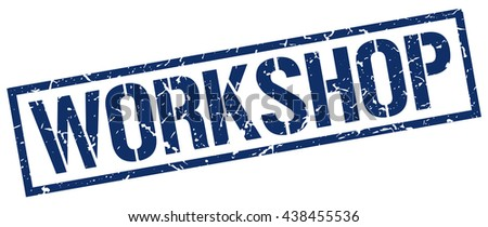 workshop stamp.stamp.sign.workshop. - stock vector