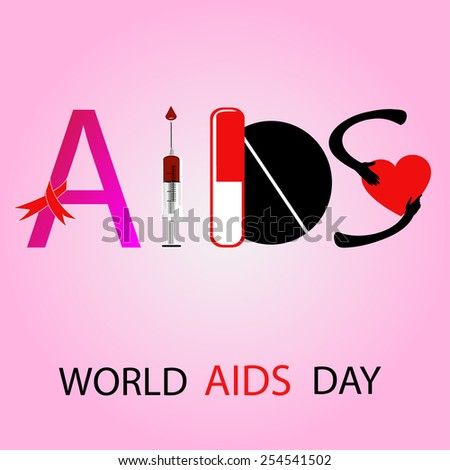 World AIDS Day  - stock vector