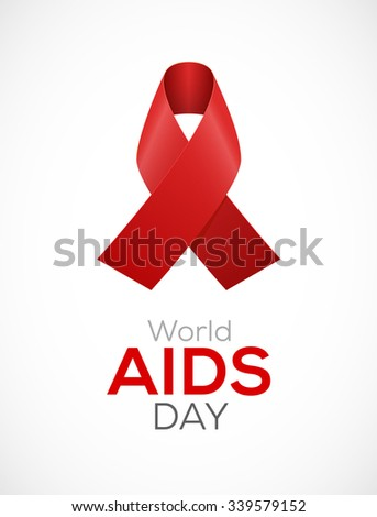 World Aids Day Ribbon Design Aids Stock Vector 339579152 Shutterstock