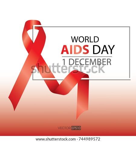 World Aids Day Symbol1st December World Stock Vector 744989572