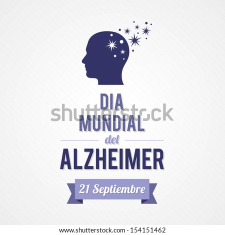 World Alzheimer's day - stock vector