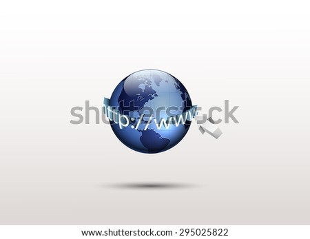 World and http://www, Global internet technology. vector - stock vector