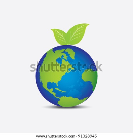 world as like fruit, metaphorical concept - stock vector