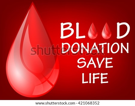 World blood donation save life day.vector - stock vector
