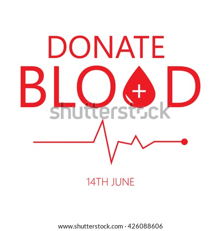 World blood donor day. Save life. - stock vector