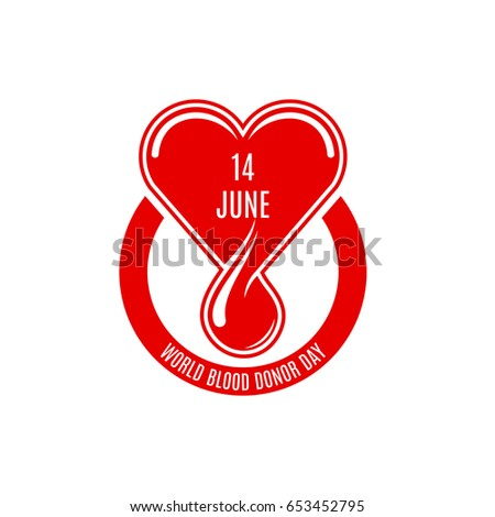 World Blood Donor Day Vector Icon Stock Vector Royalty Free